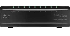 Cisco SG 200-8P 8-port Gigabit PoE Smart Switch