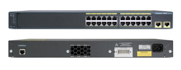 Cisco Catalyst 2960-24TT-L Switch Front and Back