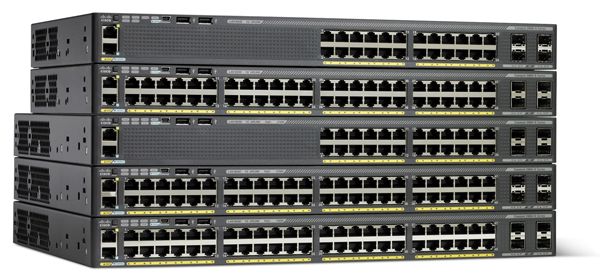 Cisco 2960X 24-Port Switch with Four SFP Uplink Interfaces