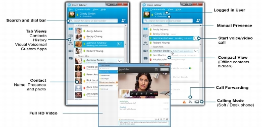 Cisco Jabber Features and User Interface