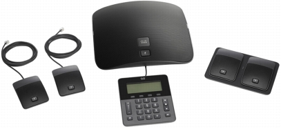 Cisco Unified IP Conference Phone 8831 with a full-duplex two-way wideband (G.722) audio hands-free speaker