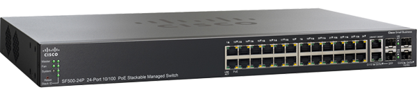 Cisco SF500-24P 24-Port PoE Fast Ethernet Switch