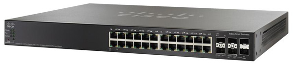 Cisco SG500X-24 24-Port Gigabit Ethernet Switch with 10 Gigabit Uplinks