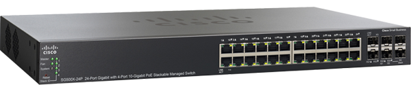 Cisco sg500x 24p 24 port poe gigabit ethernet switch with 10 gigabit