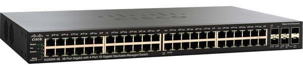 Cisco SG500X-48 48-Port Gigabit Ethernet Switch with 10 Gigabit Uplinks